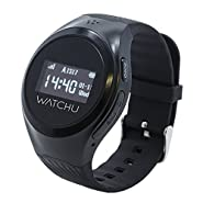 WATCHU Guardian - GPS Tracking Mobile Phone Watch Designed Specifically For The Elderly, Senior, Dementia, Alzheimer's, and Vulnerable Adults