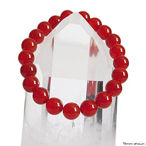 JP_Beads Red Carnelian Bracelet/Natural AAA Carnelian Stones/Motivation Stone Bracelet/Genuine Crystals/Stretch Bracelet / 8mm