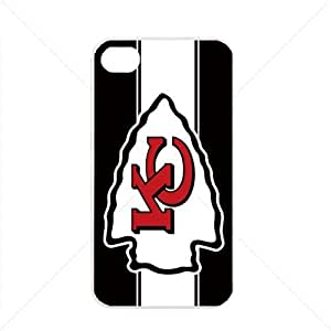NFL American football Kansas City Chiefs Fans Case For Ipod Touch 4 Cover PC Soft (White)