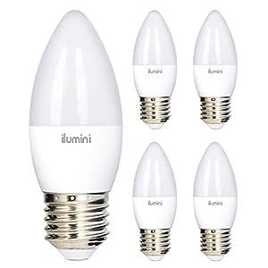 Illumini - Lampadine LED C37 candela, attacco E27, 7 W equivalente a 50 W, 3000 K, luce calda, 640 lumen [classe di… 41s73fdmLIL. SS300