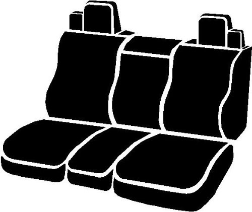 FIA NP97-20 Black with Gray Cover Front Split Seat 40//20//40//Neoprene Center Panel