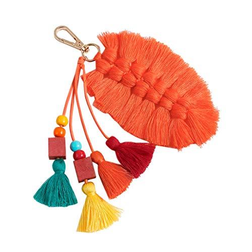 (Fyhuzp Handmade Bohemian Tassel Keychain Tassels Bag Key Chain Charm Handbags Pendant Key Chain Rings)