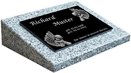 Grabstein Grabplatte Grabmal inkl Inschrift und Motiv  40x30x3