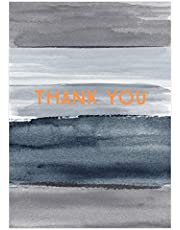 Think of Me Pack of 8 Thank You Cards, Blue & Grey - Thank You, 1 Count (5060563280290)