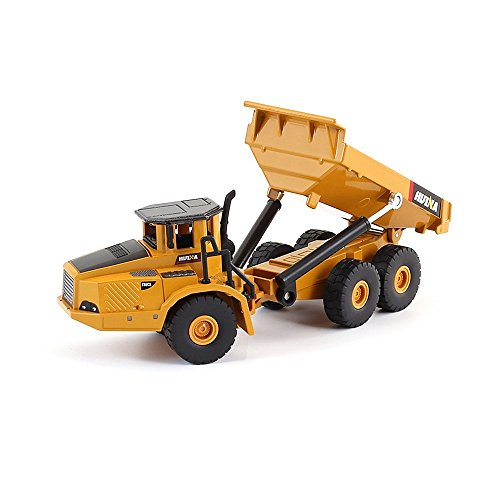 Geminismart Famous in-Home Learning Brand 1/50 Scale Metal Diecast Articulated Dump Truck Engineering Vehicle Construction Alloy Models Toys Kids Decoration House(Truck) - Diecast Dump