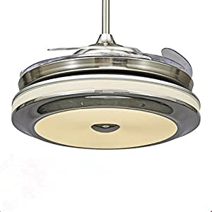 Tiptonlight Retractable Led Ceiling Fan With Remote 36