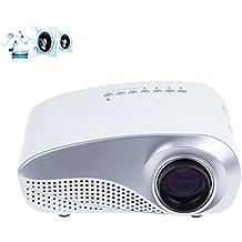 Tiangtech Mini Portable Multimedia HD LED Video Projector Home Theater PC VGA USB AV HDMI SD Card