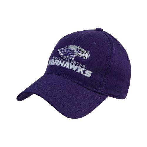 フィクション貼り直す挑発するウィスコンシン州WhitewaterパープルHeavyweight Twill Proスタイル帽子' Warhawks W / Warhawkヘッド'