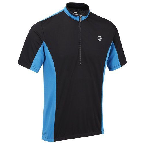 Tenn Mens Coolflo S/S Cycling Jersey - Black/Blue - Med