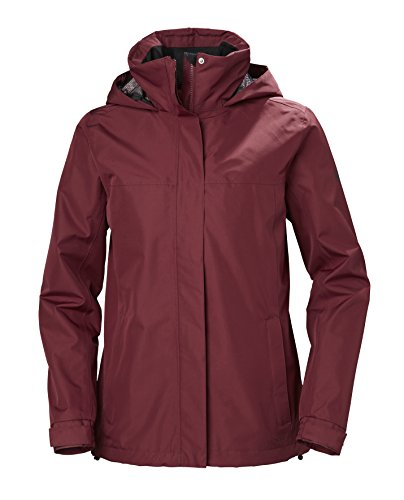Helly Hansen Women's Aden Lightweight Waterproof Windproof Breathable Rain Jacket, 146 Cabernet, Large (Aden Jacket)