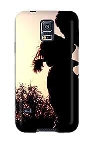 AIYAYA Snap On Hard Case Cover Couple Shadow Protector For Galaxy S5