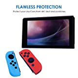 HDE Silicone Joy-Con Cover for Nintendo Switch Anti-Slip Protective Skin Non-Adhesive Comfort Grip Controller Case (Blue and Red)