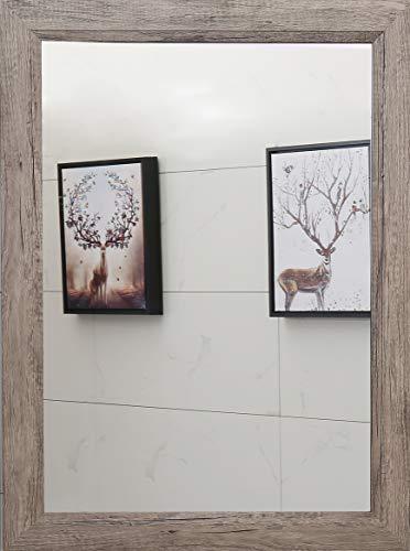 Rectangular Modern Frame Wall Mirror |Solid Wood Frame Mirror| Vanity, Bedroom, or -