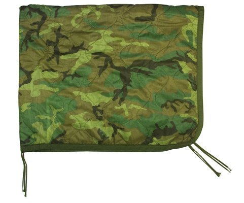 Rothco Government Poncho Liner, Woodland Camo