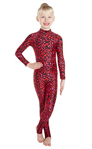 Red Leopard Dance Elsa Print Lycra Bodysuit Dance Animal Dress Catsuit Unitard Leopard Red Wholesale Fancy tOdqUwU