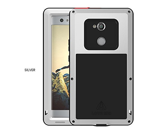 quality design 92f68 73acd Sony Xperia XA2 Ultra Waterproof Case, Love Mei Outdoor Heavy Duty Armor  Waterproof/Shockproof Dust/Dirt Proof Aluminum Metal Case Cover for Sony ...