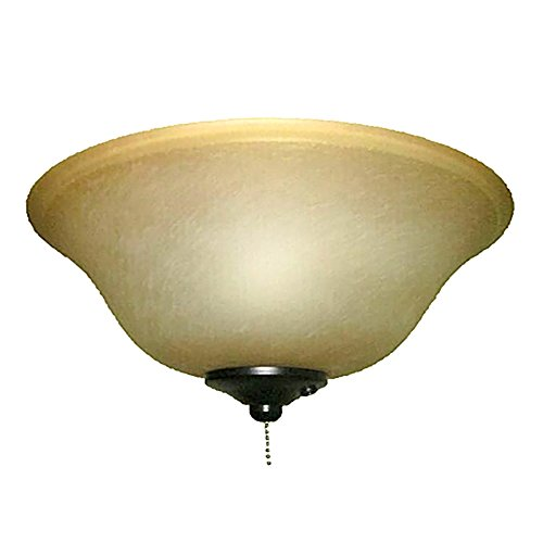 Harbor Breeze 2-Light Black/Bronze Incandescent Ceiling Fan Light Kit with Alabaster Glass or Shade