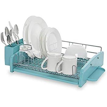 KitchenAid 3-Piece Dish Rack, Aqua Sky
