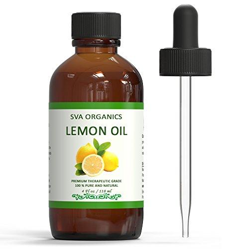 SVA ORGANICS 100% Pure Cold Pressed Lemon Oil 4 OZ (118 ML) Virgin/UNREFINED