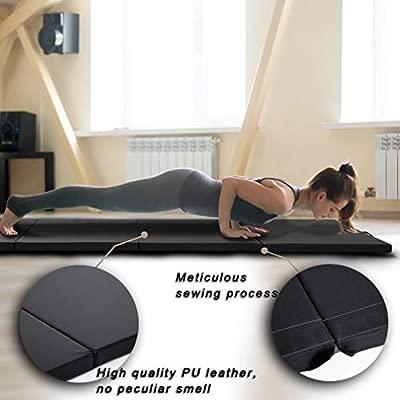BestMassage Gymnastics Mats 4x8x2 Exercise Mat Tumbling Mats for Gymnastics 8 FT Gymnastics Mats for Home Exercise Pad 4 Folding Lightweight ...