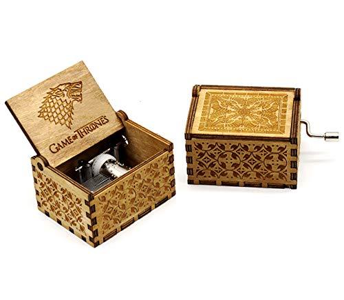 Mecanismo de manivela Caja de música 18notas caja de música manualidades Melody Castillo en la mano, Game of Thrones,...