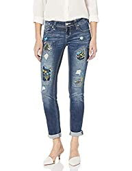 Women's Boho Embroidered Skinny Jeans