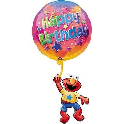 Sesame Street Elmo Happy Birthday Jumbo Mylar Balloon: Home & Kitchen