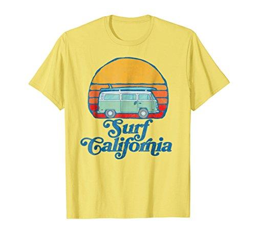(Retro California Hippie Van Groovy Beach Bum Surfer T-Shirt)
