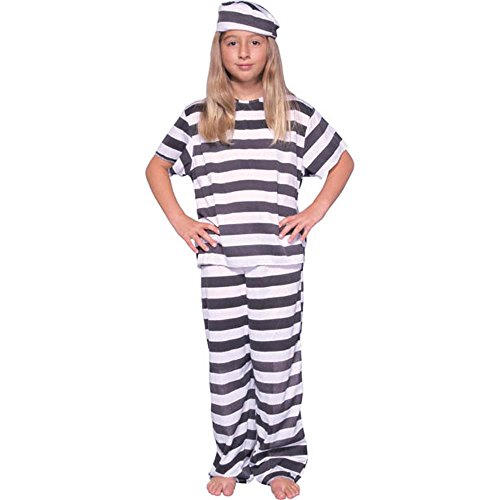 Girl's Prisoner Child Costume (Size: Small -