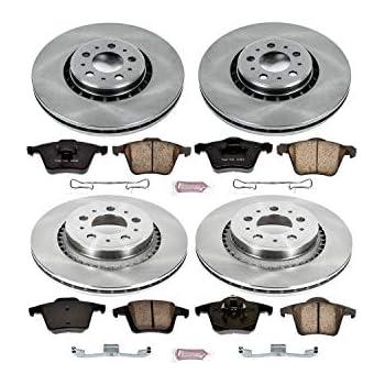 For 2005-2009 Volvo XC90 Front eLine Drill Slot Brake Rotors+Ceramic Brake Pads