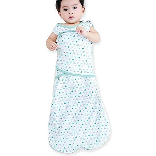 Enrich YLife Baby Cotton Sleeping Bag Swaddle Sack Wearable Blanket for Boys and Girls, 4 Season, 3-12 Months(White)