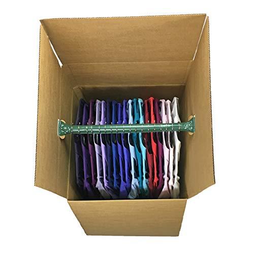 Uboxes BOXMINIWAR06 Shorty Space Saving Wardrobe Moving Boxes (Bundle of 6) 20'' x 20'' x 34'' Moving Boxes by Uboxes (Image #2)