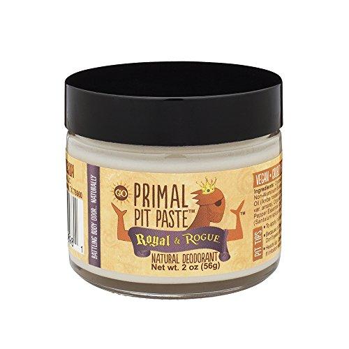Primal Pit Paste Natural Deodorant, Aluminum Free, Paraben Free, No Added Fragrances, Royal & Rogue Jar (Pit Powder Deodorant)