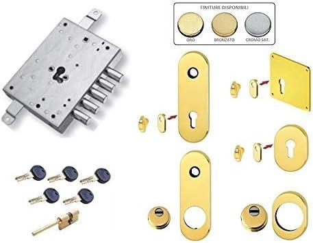 Kit de cerradura para puerta blindada con cilindro europeo seguro K22 ATRA DIERRE MOTURA 5 pistones