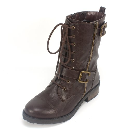 Brown Biker Boots For Women - 3