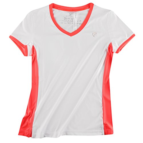 Limited Sports T-Shirt Sunny Dots Women - Ropa (Weiß, Neon Rot)