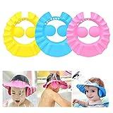Suntrade 3PCS Adjustable Baby Kids Shampoo Bath Shower Cap Hat Wash Hair Shield EVA