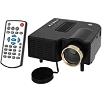 Mini Portable 1080P HD Home LED Projector w/ AV, SD, VGA, HDMI - Black