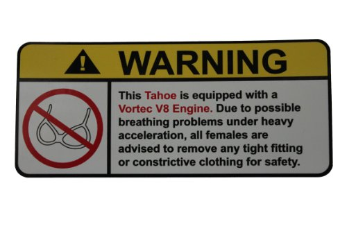 Chevy Small Block Supercharger - Tahoe Vortec V8 No Bra, Warning decal, sticker