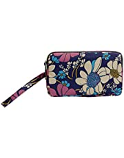 Women Floral Print Cloth Wristlet Bag Coin Purse Zipper Wallet Cell Phone Pouch Excellent Quality and PopularNice and practical