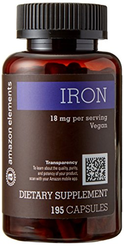 : Amazon Elements Iron 18 mg, 195 Capsules