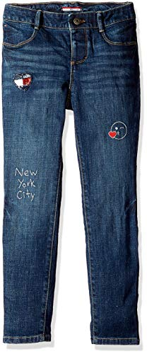Tommy Hilfiger Girls Adaptive Skinny Jeans with Adjustable Waist and Magnet Buttons