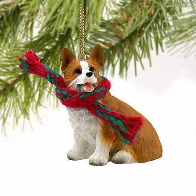 Welsh Corgi Pembroke Miniature Dog Ornament (Welsh Corgi Figurine)