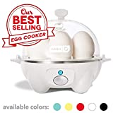 Dash Rapid Egg Cooker: 6 Egg Capacity Electric Egg Cooker for Hard Boiled Eggs, Poached Eggs, Scrambled Eggs, or Omelets with Auto Shut Off Feature