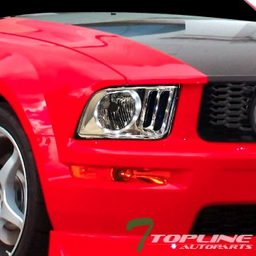 Topline Autopart Chrome Crystal Mustang