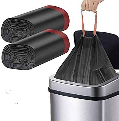 Manfâ Bolsa de Basura,Heavy Duty 50L 45 Bolsas,Automático de Basura para Cocina Jardín ,Oficina,Dormitorio ,Aire Libre Patio,Negro: Amazon.es: Hogar