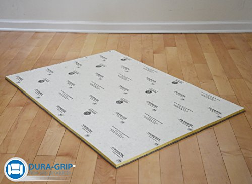 (DURA-GRIP® Floor Shield and Protector Under Pet Crates - MOISTURE RESISTANT - Protects Floors from spills & urine, use under pet crate to prevent slipping and damage (25Wx37L))