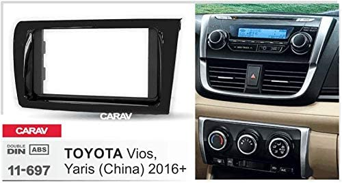 Yaris 2016+ with 17398mm//178100mm//178102mm Double Din In Dash Car Stereo Installation Kit Car Radio Stereo CD Player Dash Install Kit Compatible for TOYOTA Vios China