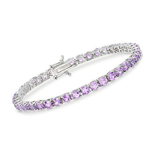 (Ross-Simons 7.00 ct. t.w. Amethyst Tennis Bracelet in Sterling Silver)