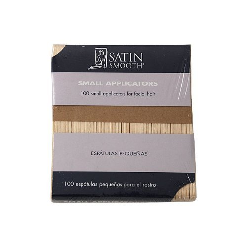 Lot of 3 Satin Smooth Small Wood Epilating Wax Applicators 100 ct by Satin Smooth